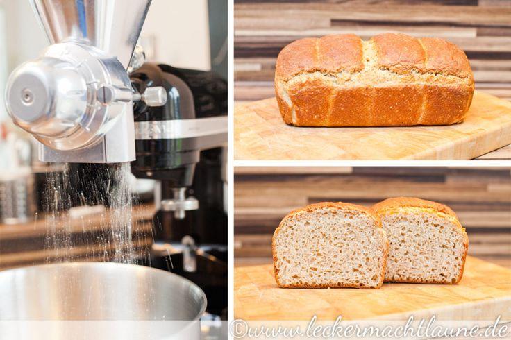 Einkorn-Dinkel-Toast & meine Getreidemühle | lecker macht laune