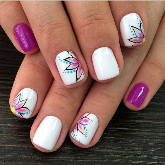 50 Beautiful Floral Nail Designs For Spring – Page 27 of 50