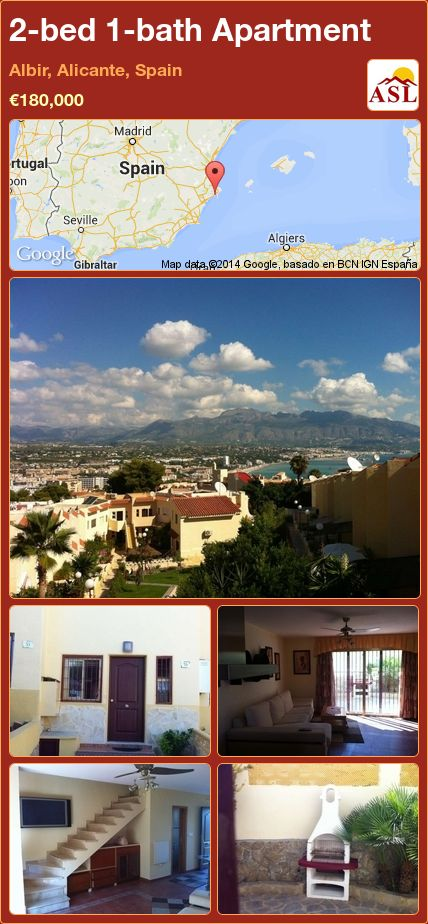 2-bed 1-bath Apartment in Albir, Alicante, Spain ►€180,000 #PropertyForSaleInSpain