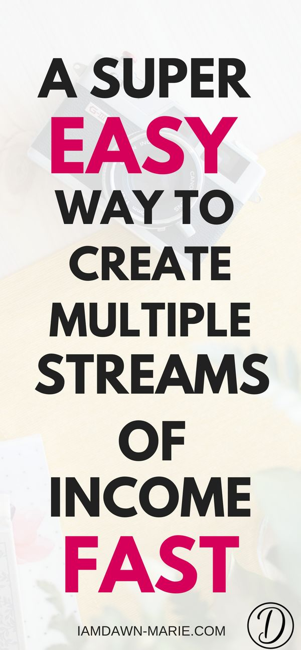 A super fast way to create multiple streams of income fast #incomestreams #multipleincomestreams #makemoneyonline