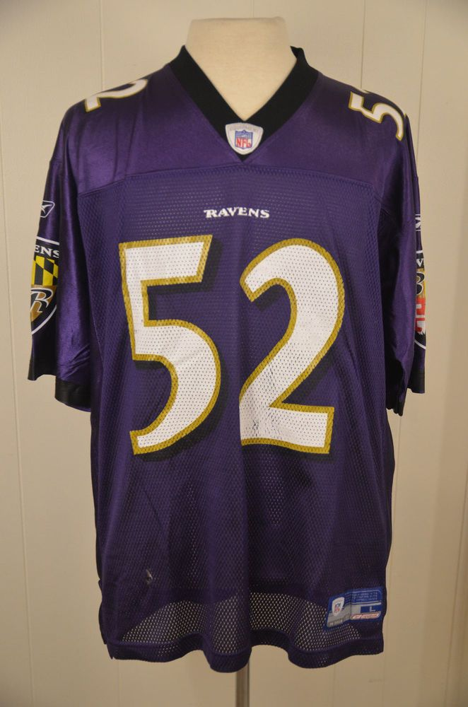 outlet store 4761f 9424c Reebok Baltimore Ravens NFL Replica Jersey #52 Ray Lewis ...