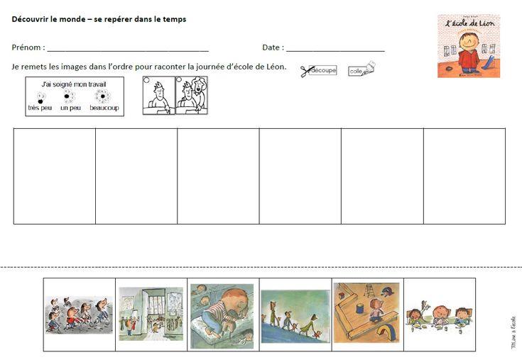 L'école de Léon fiche images séquentielles
