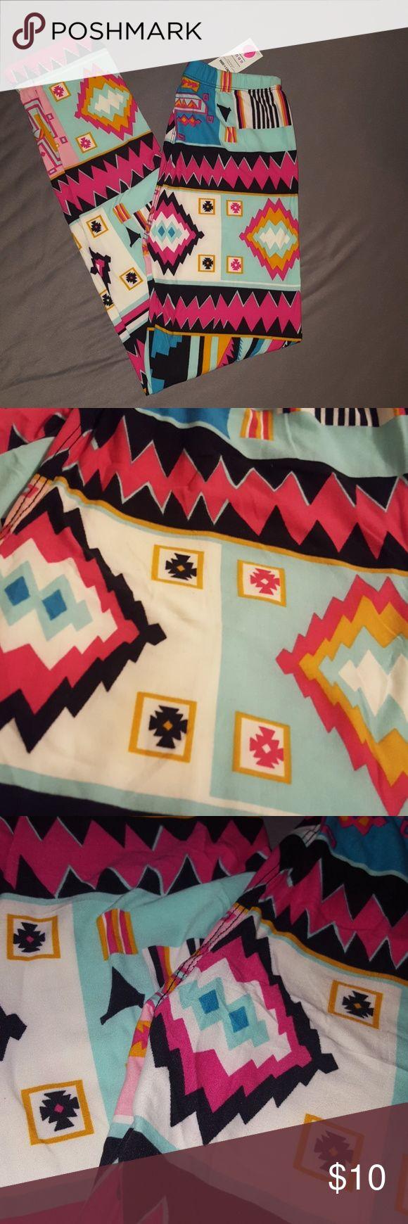 NWT. Agnes & Dora Aztec Print Leggings NWT. Aztec print leggings. Beautiful bright colors. Non rep sale. Agnes & Dora Other
