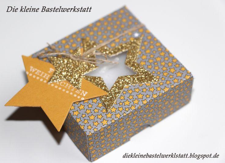 Stampin up Teelichtverpackung Teelicht Verpackung Weihnachten Stern Anhänger Goodie Mitbringsel Kerze