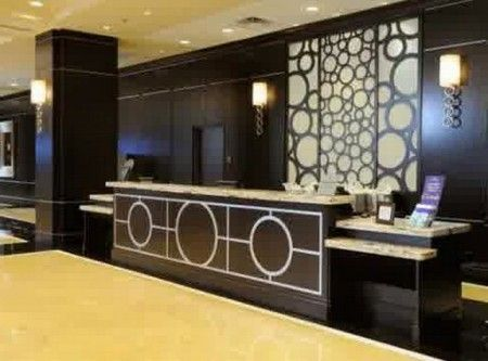 Hotel Reception Desk symmetrical lower ends for accessibility
