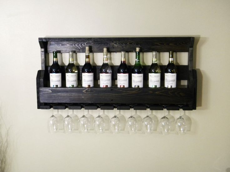 Black Wine Rack, Wine Rack, Unique Wine Rack, Wall Wine Rack, Christmas Gift, Kitchen Decor, Christmas Gift, Primitive Home Decor, Rustic by JNMRusticDesigns on Etsy