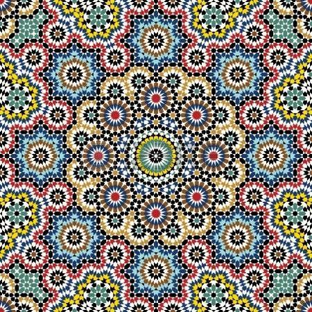 architecture arabic: Patrón tradicional Marruecos Vectores