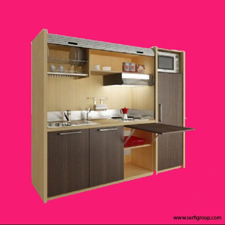 Cacher sa kitchenette avec style dans un studio