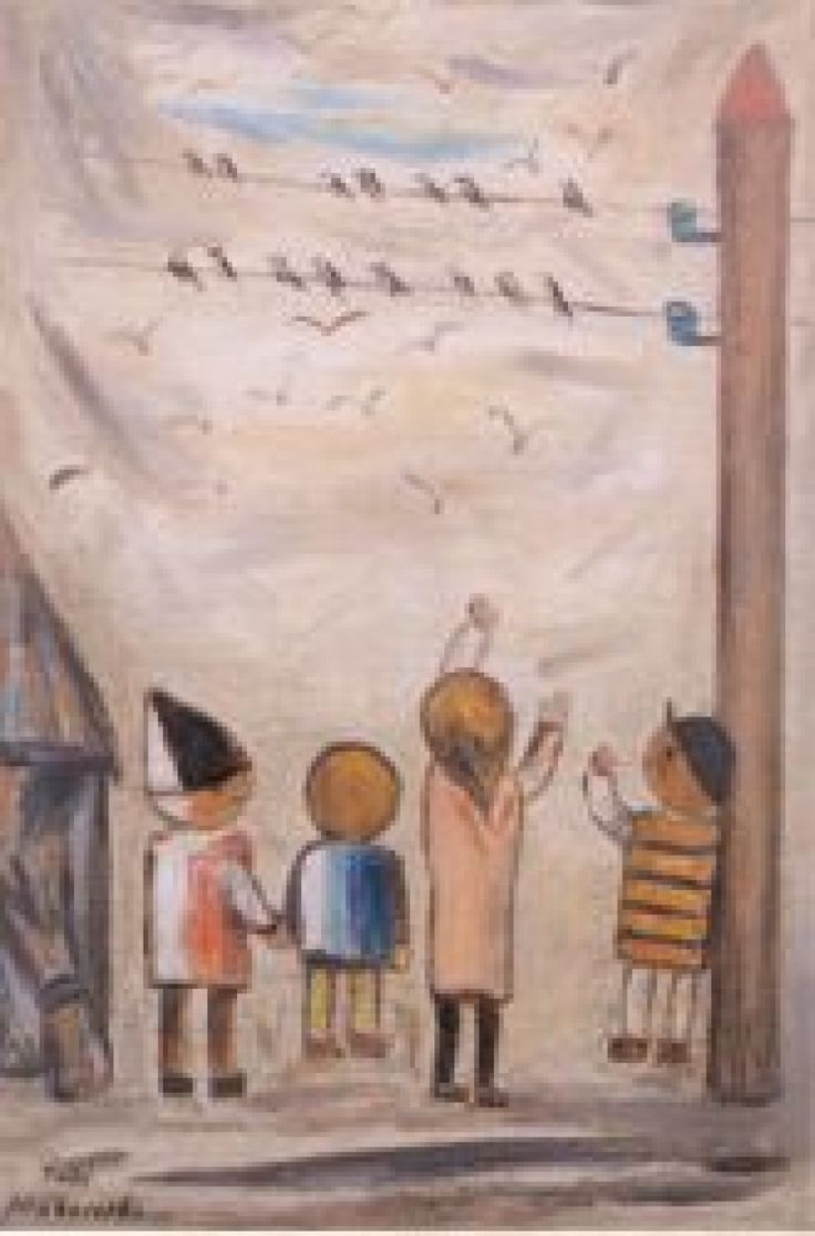 Tadeusz Makowski - Jaskolki, 1932 (The Swallows); National Museum Kracow