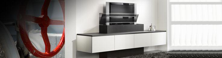 tv meubel op maat laten maken met een tv-lift.