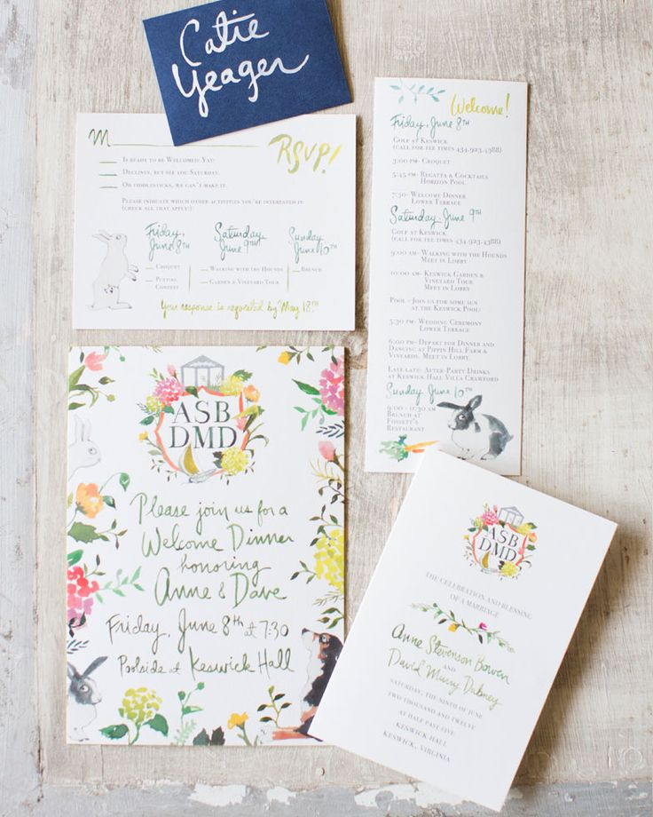 summer fete wedding invitations%0A Floral stationery   Easton Events   Photo by Patricia Lyons
