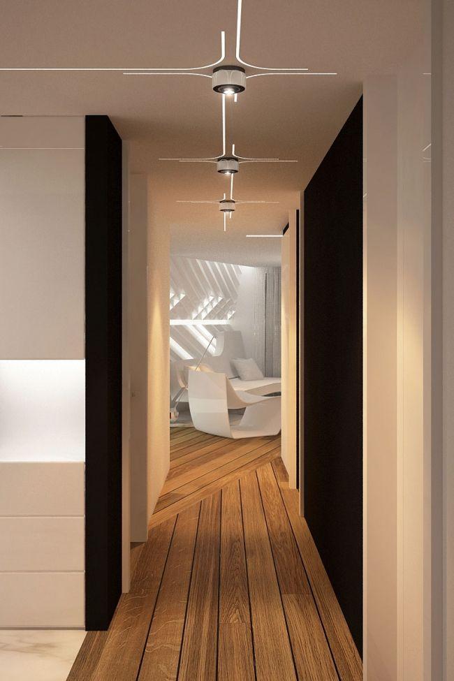 Futuristisch anmutende Designer Wohnung von Bozhinovski Design ...