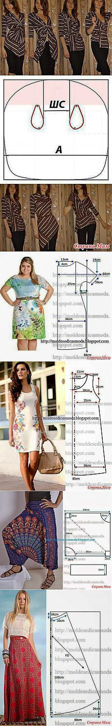 Простой крой-несложные модели - Быстрое шитье и шитье для неидеальных - Страна Мам   