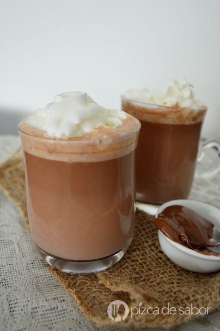 Chocolate caliente de nutella con solo 2 ingredientes www.pizcadesabor.com