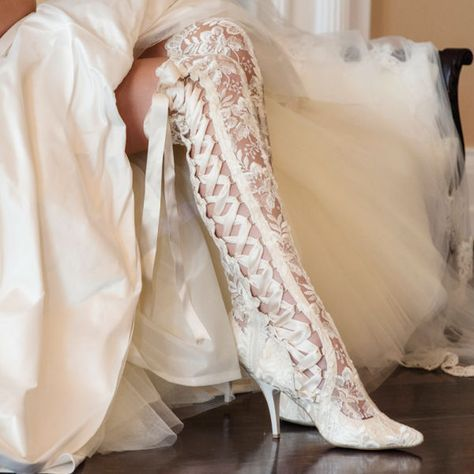 Wedding Boots by House of Elliot. Lace Wedding Boots. Handmade and Irresistibly Unique! #weddingboots #vintageweddingboots