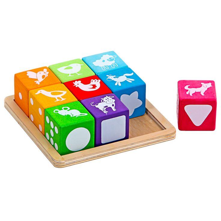 Készségfejlesztő színes kockák   Pandatanoda.hu Játék webáruház