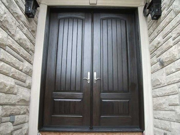 Rustic Doors-8-Foot-Fiberglass-Double-Solid-Parliament-Doors-with-Multi-Point-Locks-Installed by Windows and Doors Toronto-in-Burlington 505