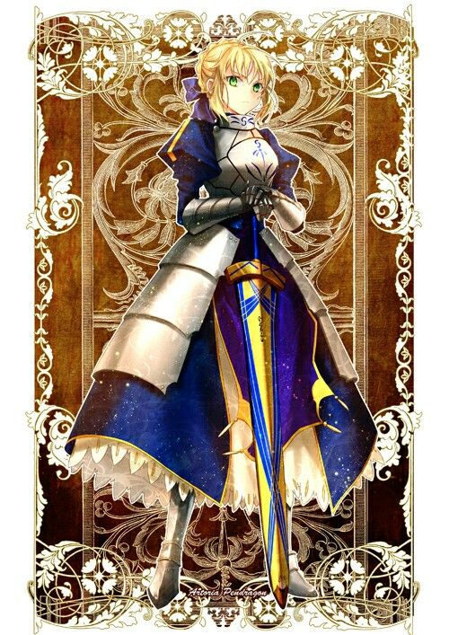 Saber- Altria(King Arthur)   Fate/Series, Type-Moon and ...