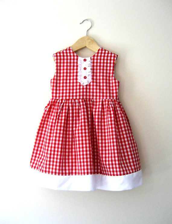 sweet red gingham dress - maybe one day or for a friend with a little girl.