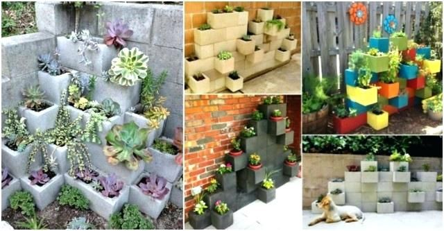 cinder block planters cinder block garden concrete block garden