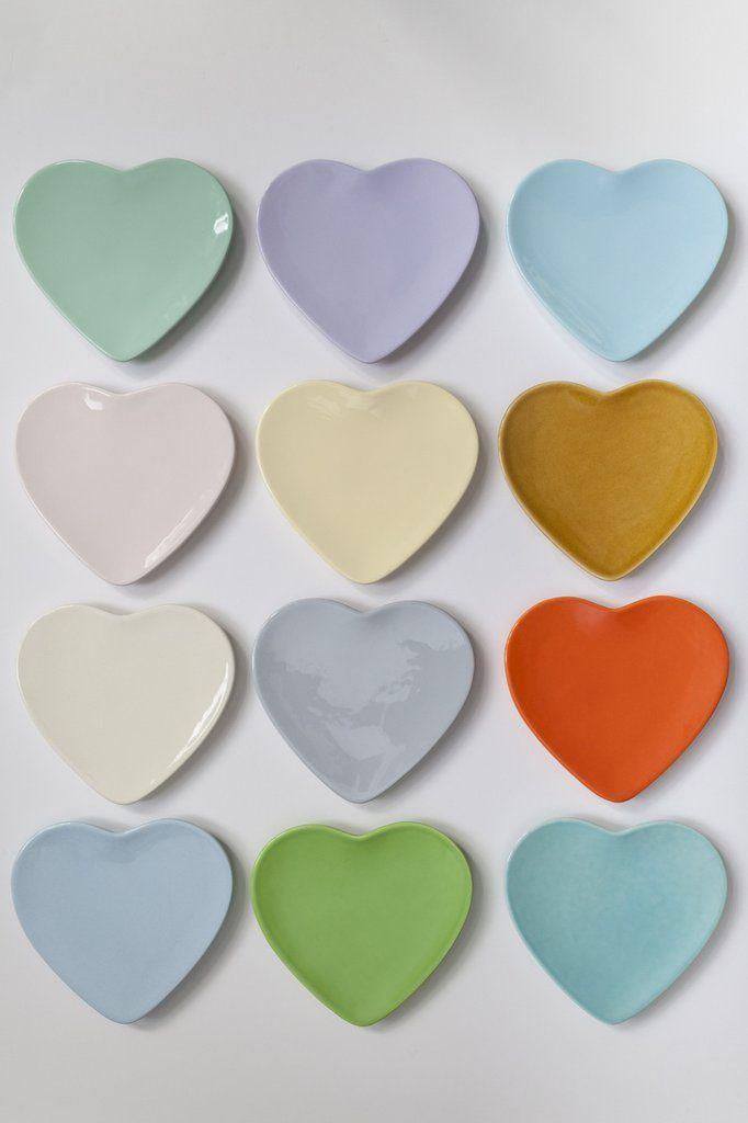 Heart Plates by Rachel Carley Ceramics. Image: Delena Nathuran Photography.