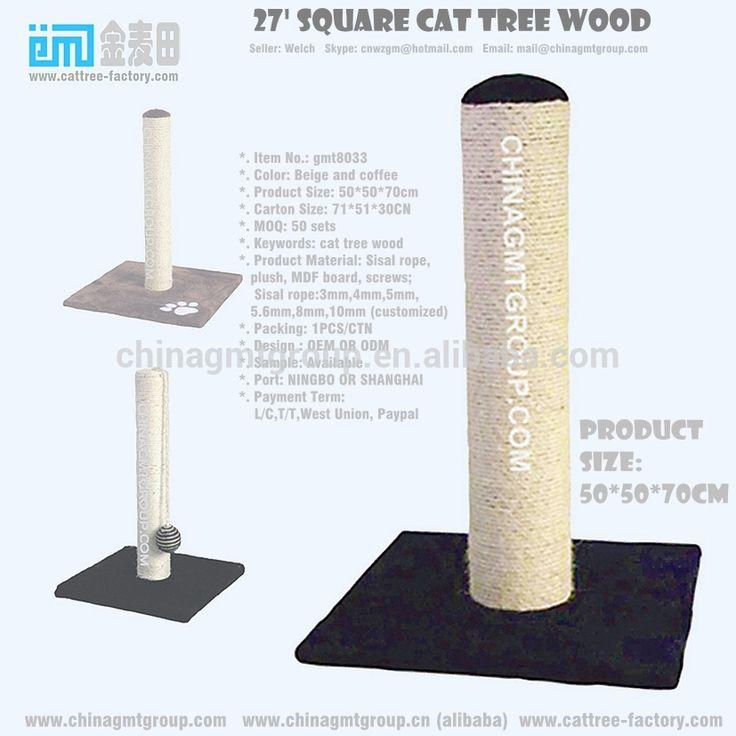 70cm high quality sisal cat toys square cat tree climbing