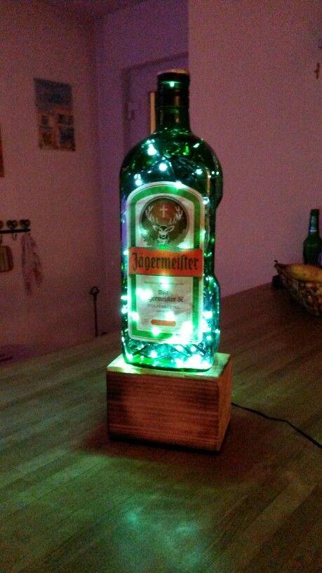 Jägermeister Flasche 1,75 l als Lampe