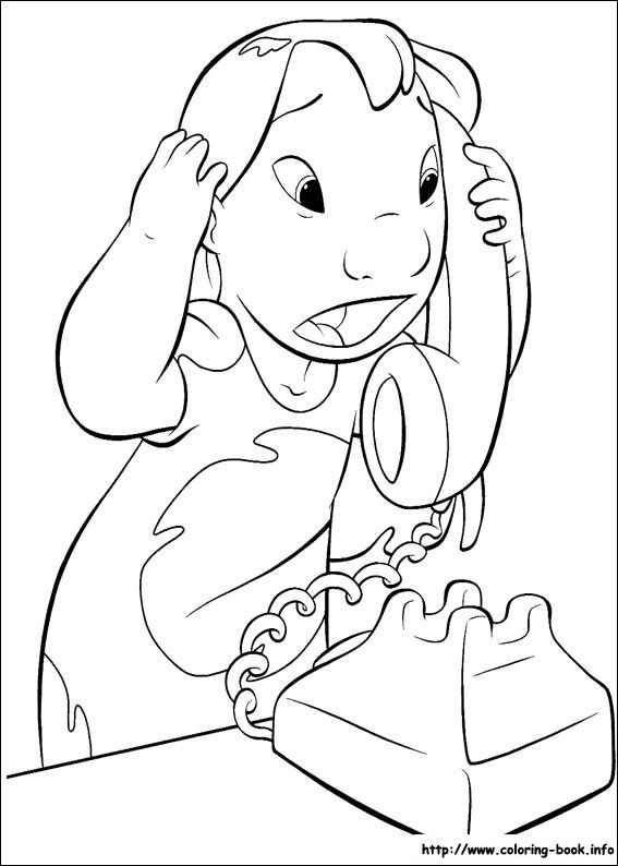 It is a graphic of Massif Lilo Coloring Pages