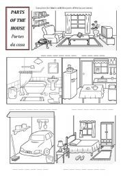 parts of house worksheets pesquisa google coisas para usar pinterest house search and of. Black Bedroom Furniture Sets. Home Design Ideas