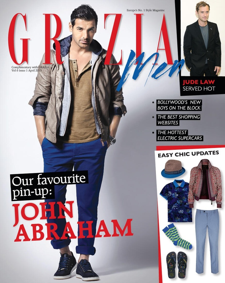 John Abraham on The Cover of Grazia Man Magazine - April 2013 Issue.
