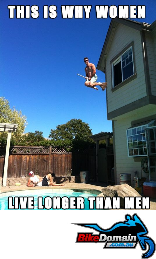 Why Women Live Longer Than Men Funny Motorbike Funny