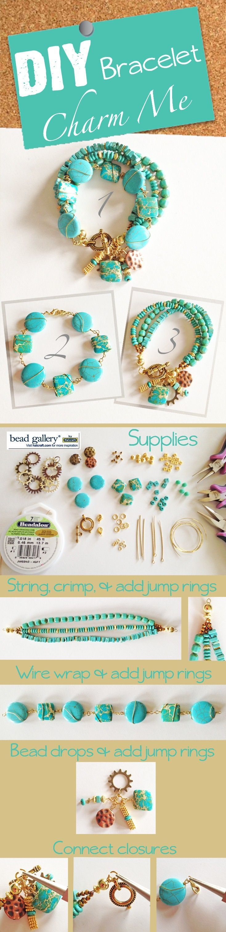 DIY Jewelry Charm Me Turquoise Bracelet T: