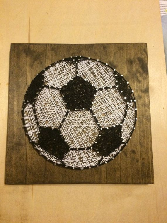 Soccer Ball String Art by stringyourheartout on Etsy