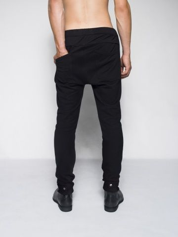MEN BLACK SKINNY SWEATPANTS black pants black for men skinny fit