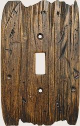 wooden light switch and outlet cover