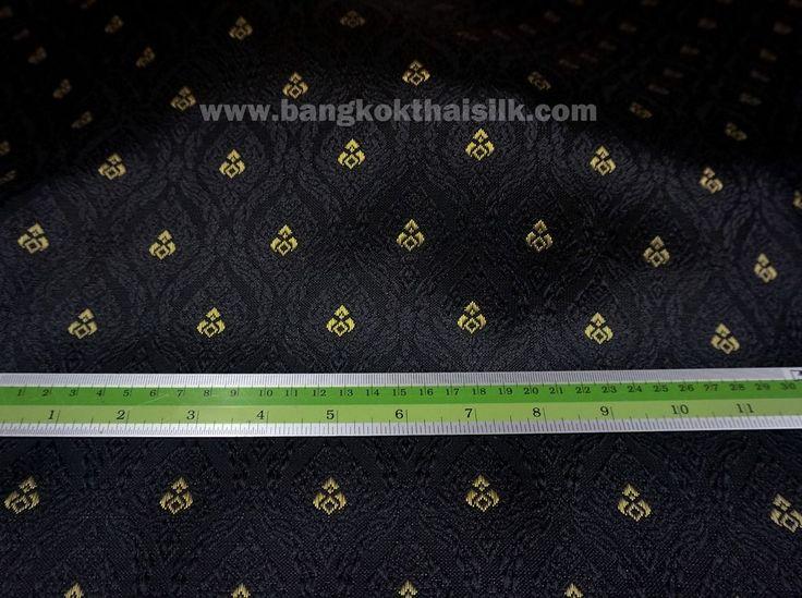 Black Amp Gold Thai Silk Tradition Damask Fabric Wedding