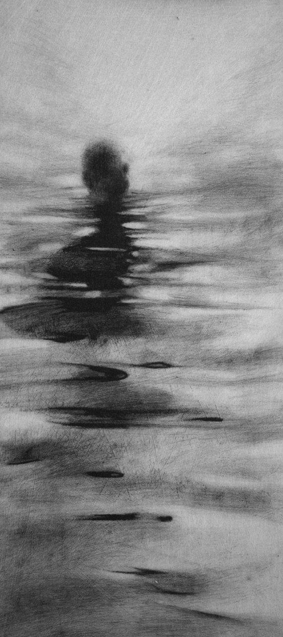 Macabre Gothic Haunting Moody  Dark Fog Fine by ClaraLieuFineArt,
