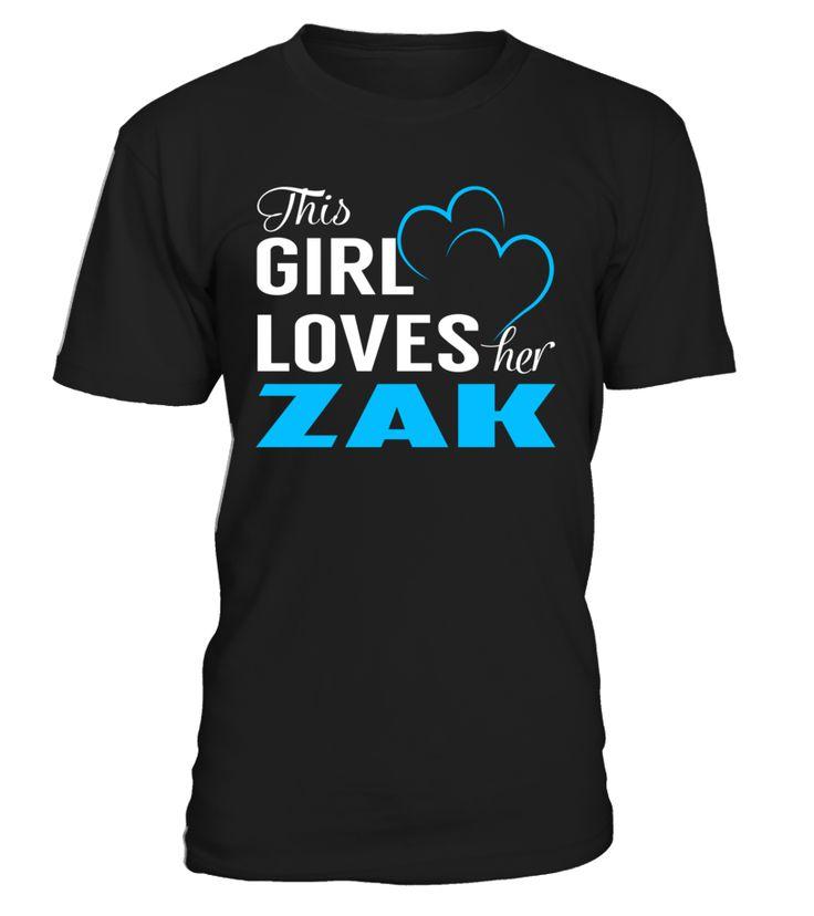 This Girl Love Her ZAK Last Name T-Shirt #Zak