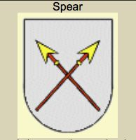 Although the spear, the spearhead and the broken spear all very similar symbols are they each have their own symbolic meaning. The spear, lance or spear tipping is an emblem the gallant service and devotion to the honor and chivalry.  The broken lance is a symbol of peace.  The spear tip symbolizes skill and dexterity of a person.