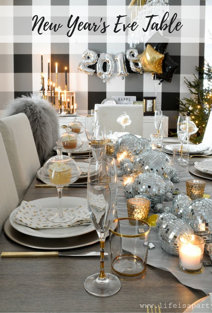 New Year S Eve Table Be Inspired By A Disco Ball Center Piece