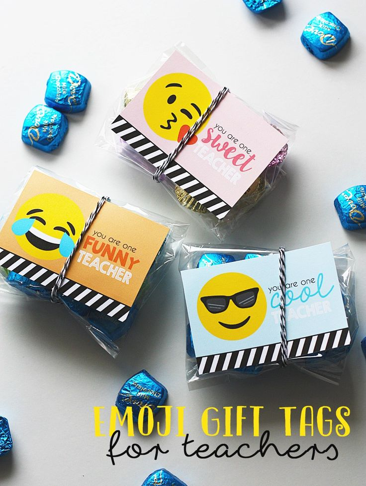 Emoji Teacher Gift Tags - Free Printable