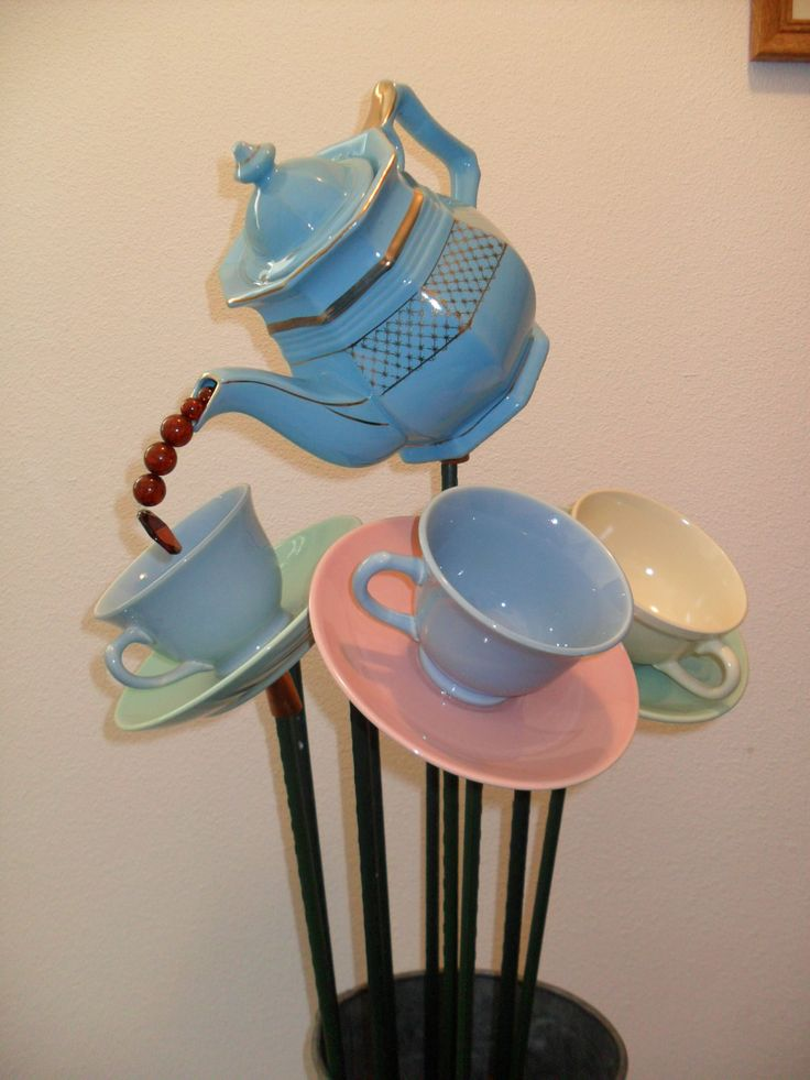 Mad Hatter's Tea Party Garden Ornaments