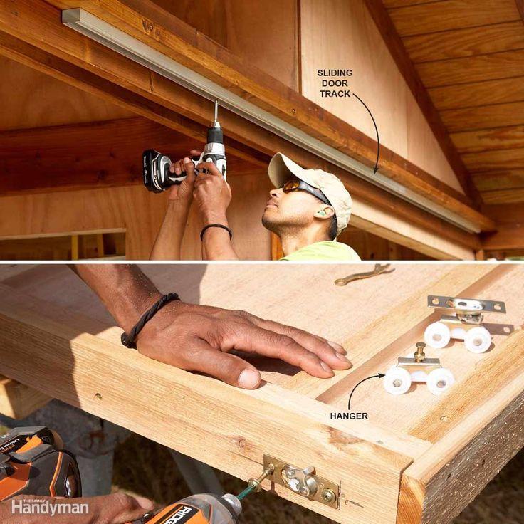 Closet Door Hardware for Sliding Shed Doors - If you buy heavy galvanized…