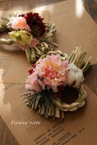 【年末恒例】Flower note のミニしめ飾り Flower note の 花日記 (横浜・上大岡 アレンジメント教室)