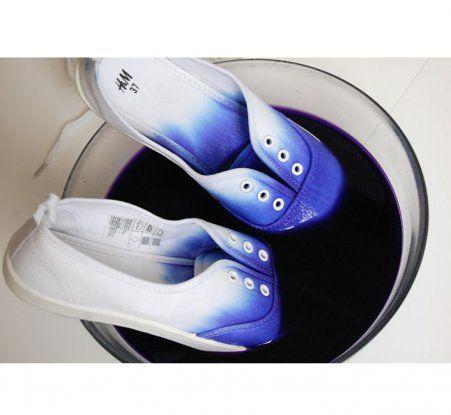 DIY mode : les chaussures tie & die