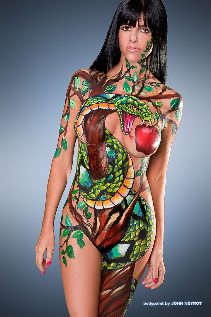 Picture Of Body PaintingBody Painter John Neyrot Dishes On Painting Fainting Models And