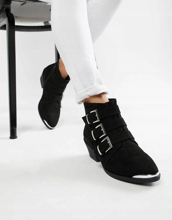 14m B09 Czarne Damskie Botki Na Klocku 43 P04 7897796115 Oficjalne Archiwum Allegro Ankle Boots Asos Designs Boots