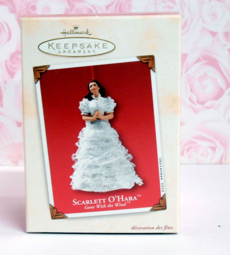 hallmark keepsake xmas ornament scarlett o u0026 39 hara gone  wind