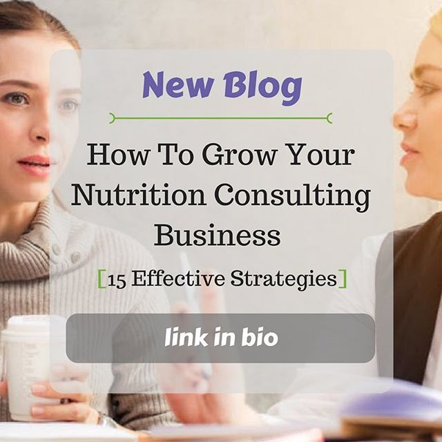 The article has been a long time coming... . Check it out here => @holisticnhub . We wanted to compile a list of all the ways that you can use to grow your nutrition consulting business. . In the end we came up with 15 effective strategies that will boost the growth of your practice. . Read the blog now => @holisticnhub