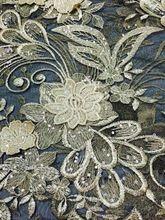 Роскошные африканский сетка ну вечеринку платье черный французский чистая кружевной ткани с горный хрусталь цветок блестки для одежды ON8-2 ( 5 ярды / pc )(China (Mainland))